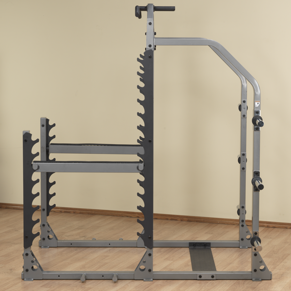 side view Pro clubline squat rack