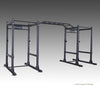 Commpercial double power rack with monkey bars black with pullup bars