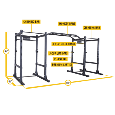 double power rack dimensions SPR100DB