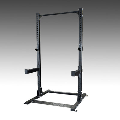 Body Solid SPR500 half rack black with pull-up bar, j-hooks, safety spotter arms