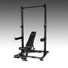 Commercial half rack with adjustable FID bench SPR500P2