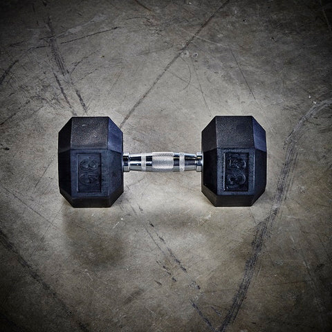 Rubber Coated Hex Dumbbells – Pairs