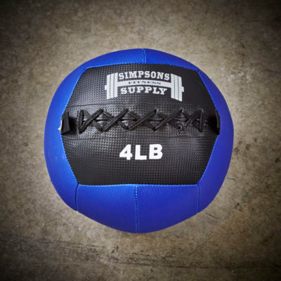 Simpsons Fitness Supply 4lb medicine ball wall ball blue and black