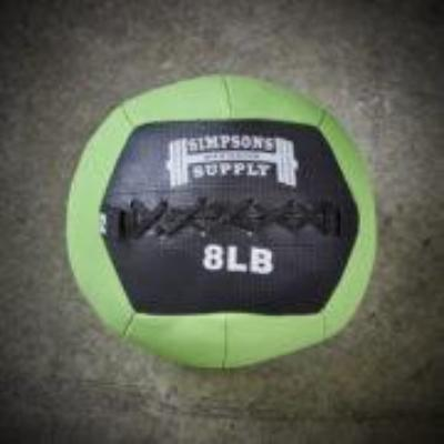 Simpsons Fitness Supply 208lb medicine ball wall ball green and black