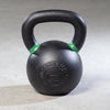 Black with green band 24kg cast iron kettlebell