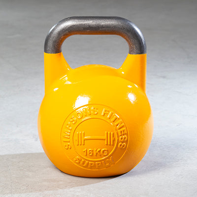 yellow 16kg competition kettlebell 35 pounds