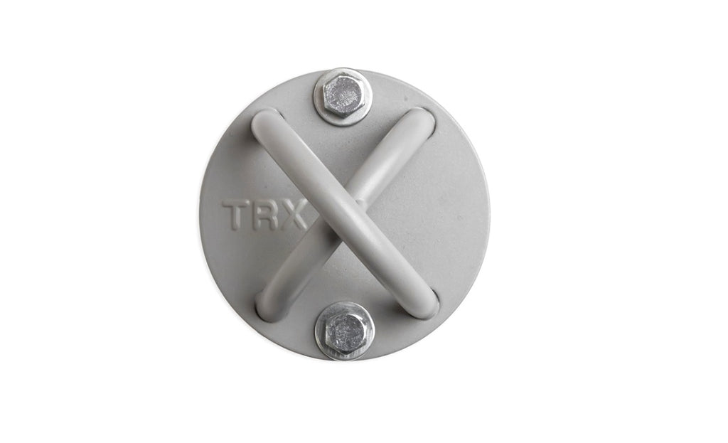 trx x-mount grey trx suspension mounting bracket home workout top view simpsons fitness supply