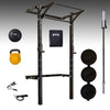 prx womens starter garage gym pro, bar, bumpers, kettlebell, slam ball, ab mat
