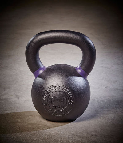 Kettlebell - Large black and purple cast iron 20kg - Simpsons Fitness Supply