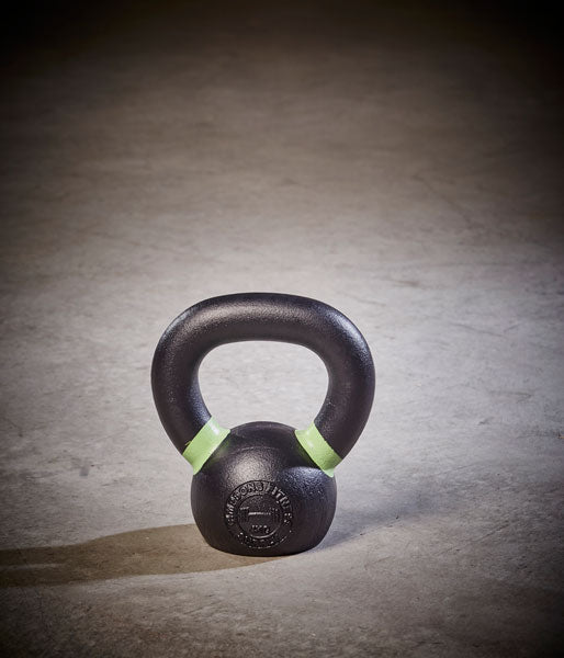 Cast Iron Kettlebell green and black