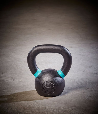 Kettlebell - Small 6kg blue and black cast iron - Simpsons Fitness Supply