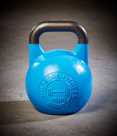 Competition Kettle Bells 10kg - Simpsons Fitness Supply blue
