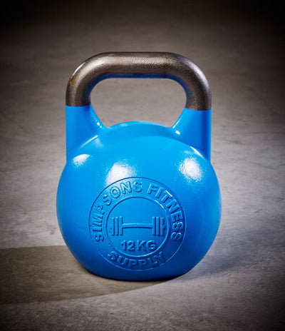 Competition Kettlebells 12kg - Simpsons Fitness Supply blue