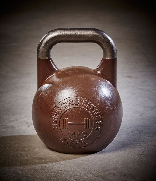 Competition Kettle Bells 14kg - Simpsons Fitness Supply brown