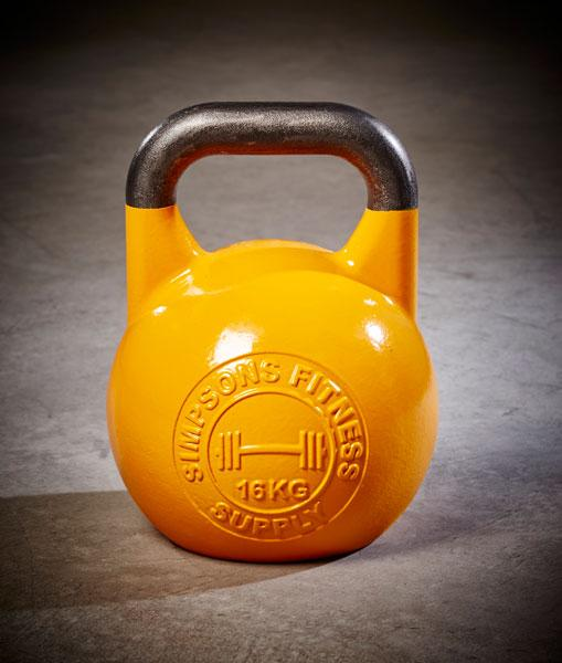 Competition Kettlebell 16kg yellow - Simpsons Fitness Supply