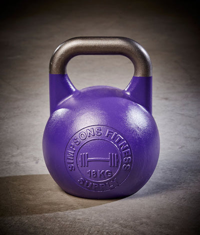 Competition Kettle Bells 18kg - Simpsons Fitness Supply purple