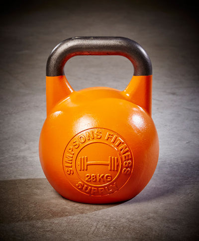 Competition Kettlebell 28kg - Simpsons Fitness Supply orange