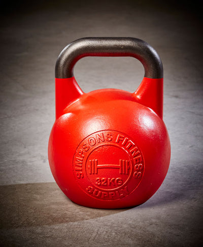 Competition Kettlebell 32kg - Simpsons Fitness Supply red