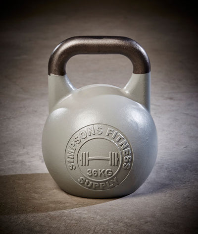 Competition Kettlebells 36kg - Simpsons Fitness Supply silver