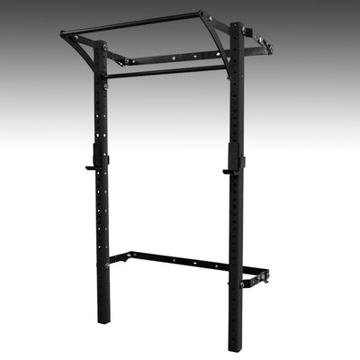 PRX performance profile pro folding squat rack black with kipping bar