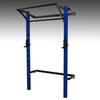 PRX performance profile pro folding squat rack blue with kipping bar