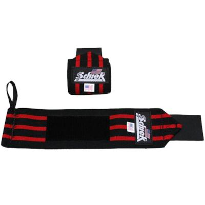 "Schiek Heavy Duty Wrist Wraps 12"" - Black / Red"
