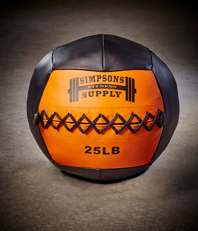 Medicine Ball Wall Ball 25lb Orange and Black Simpsons Fitness Supply