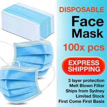 Load image into Gallery viewer, 100Pk 3 Layer Protective Disposable Face Masks - Brilliant Co