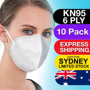 10pc 6-Layer Face Masks KN95/N95/P2 Reusable Disposable Respirators - Brilliant Co