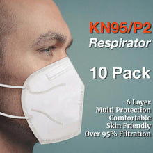 Load image into Gallery viewer, 10pc 6-Layer Face Masks KN95/N95/P2 Reusable Disposable Respirators - Brilliant Co