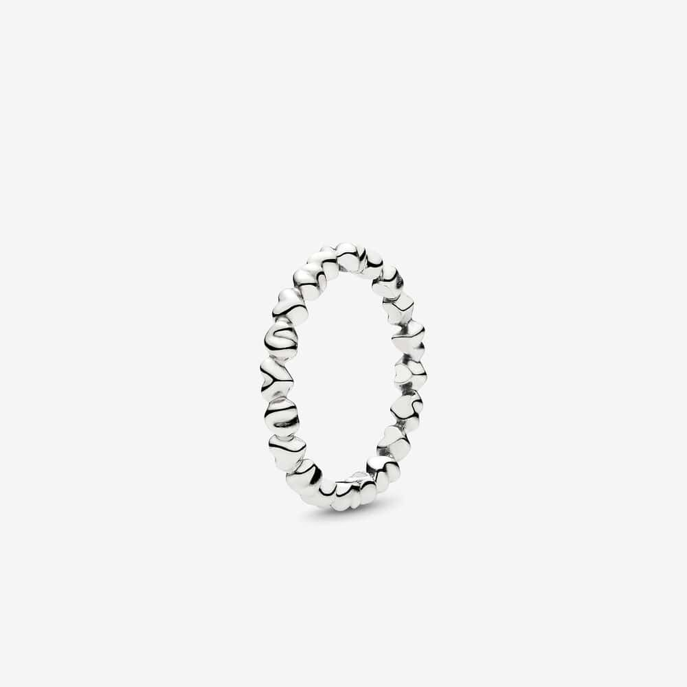 Chain of Hearts Silver Ring - PANDORA - Brilliant Co