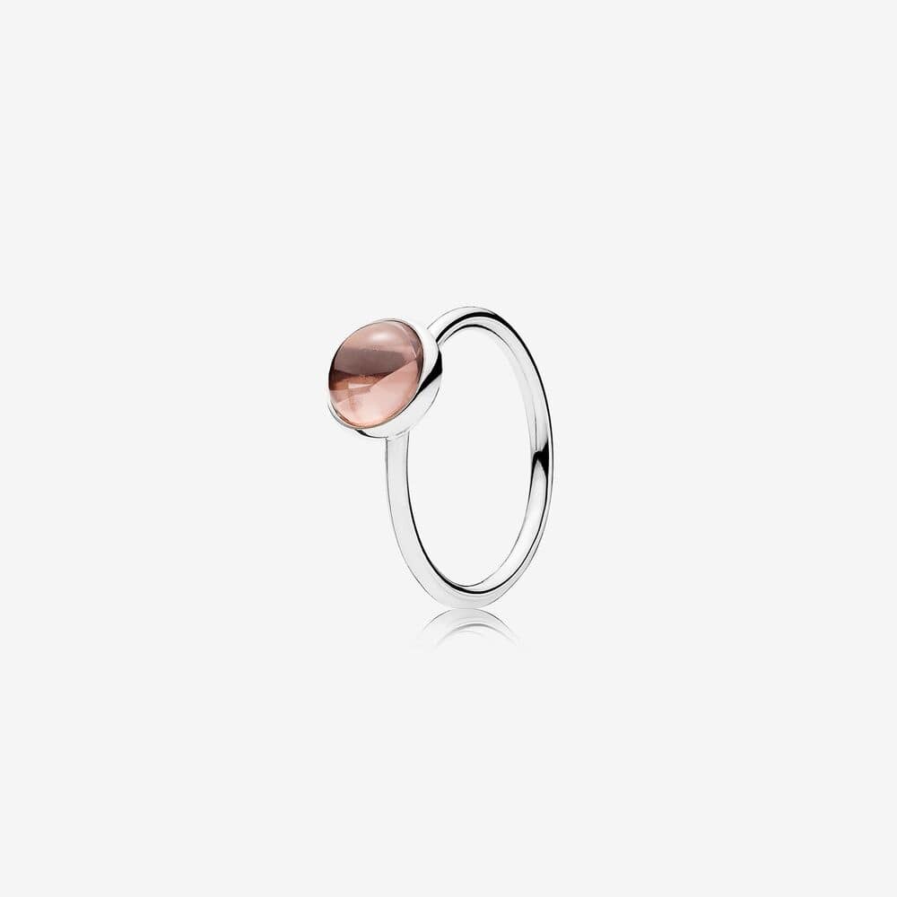 Blush Pink Poetic Droplet Ring