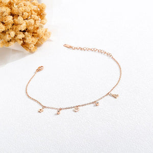 Dangling Stacey Charming Beach Feet Jewellery Rose Gold Layered Anklet - Brilliant Co