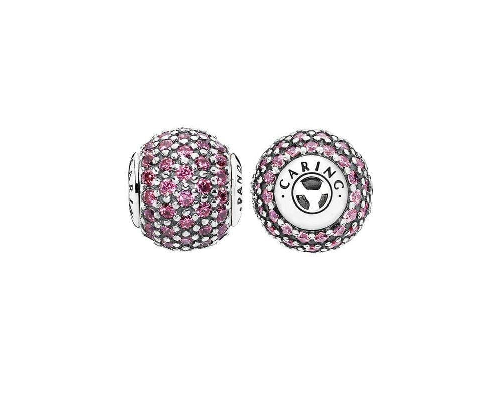Pandora Essence Collection Caring Charm - Silver/Pink - Brilliant Co
