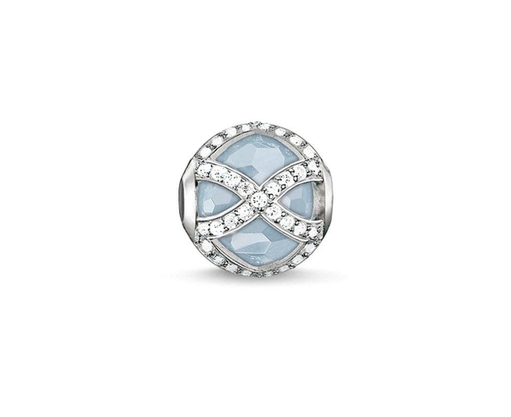 THOMAS SABO MAHARANI AQUA QUARTZ KARMA BEAD - Brilliant Co