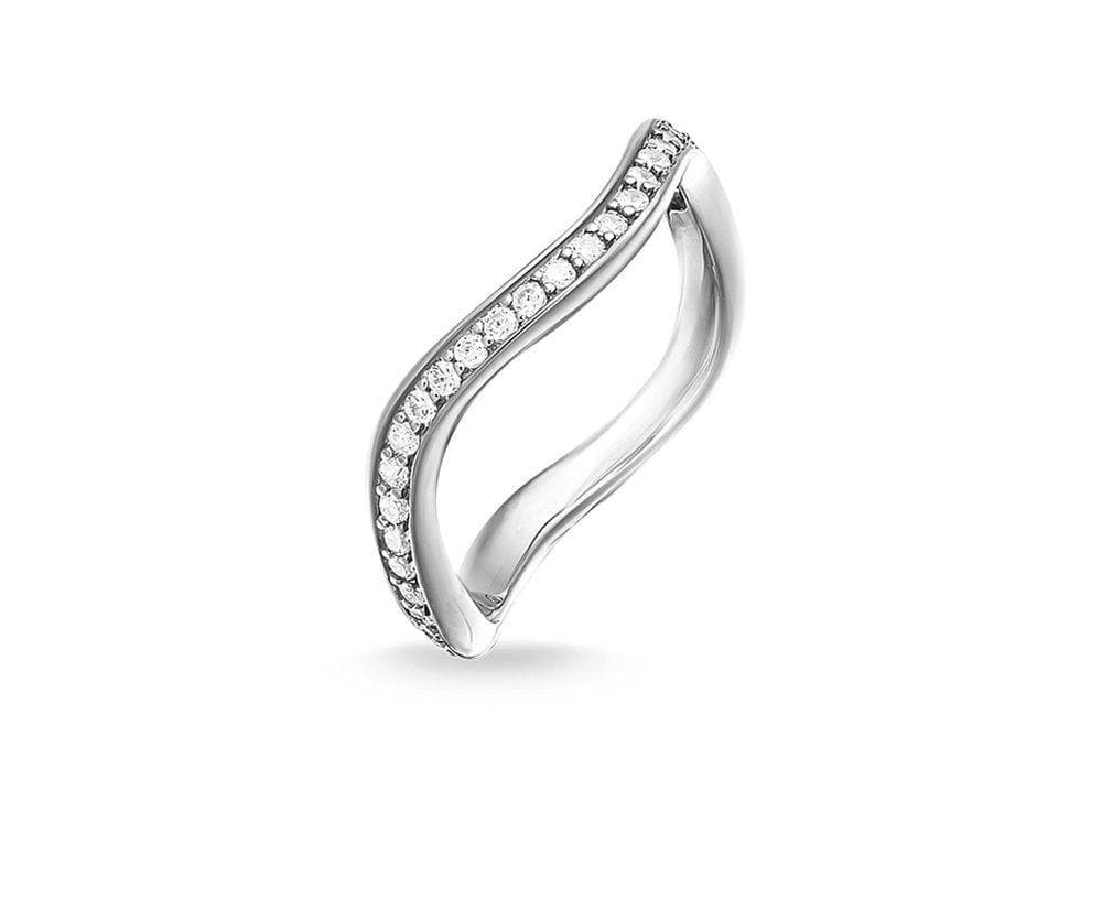 THOMAS SABO ETERNITY WAVE PAVEMINI RING - Brilliant Co