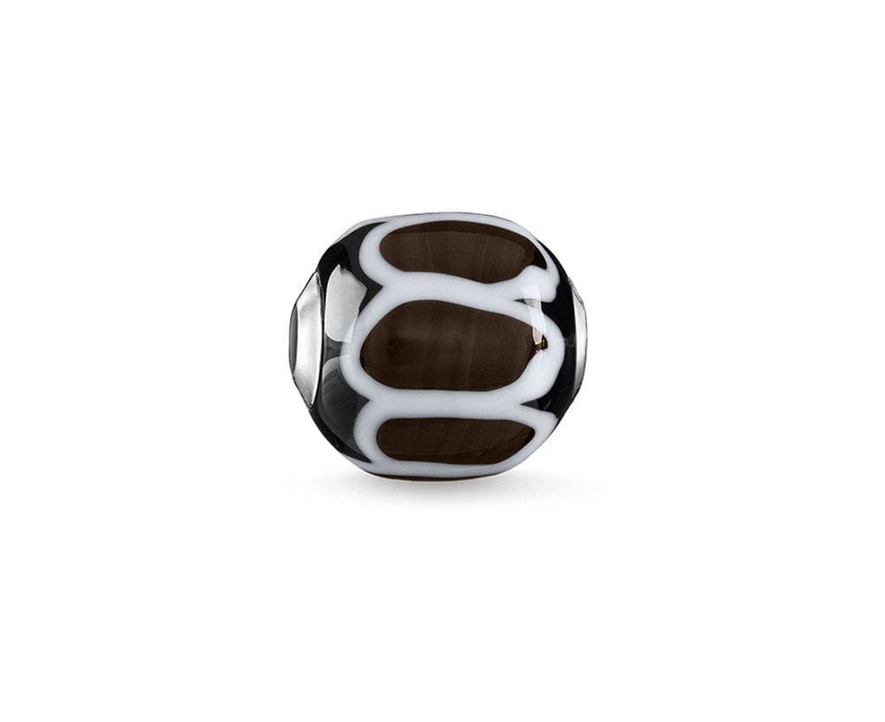 THOMAS SABO BLACK GLASS KARMA BEAD - Brilliant Co
