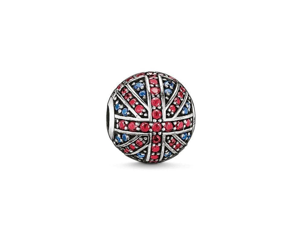 THOMAS SABO UNION JACK CZ KARMA BEAD - Brilliant Co