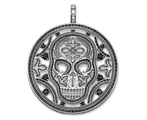 THOMAS SABO SKULL CIRCLE BLACK CZ PENDANT - Brilliant Co