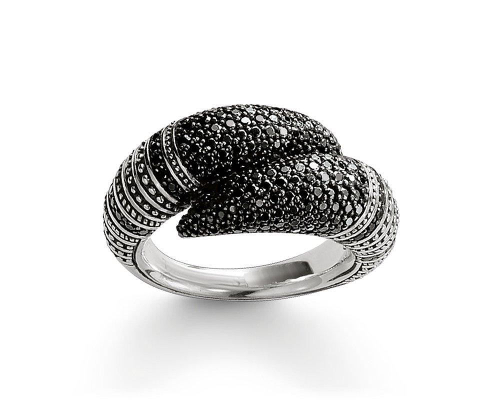 THOMAS SABO FALCON TALON BLACK CZ RING - Brilliant Co