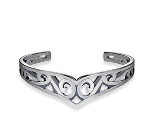 THOMAS SABO MAORI WHALE FIN CUFF MED - Brilliant Co