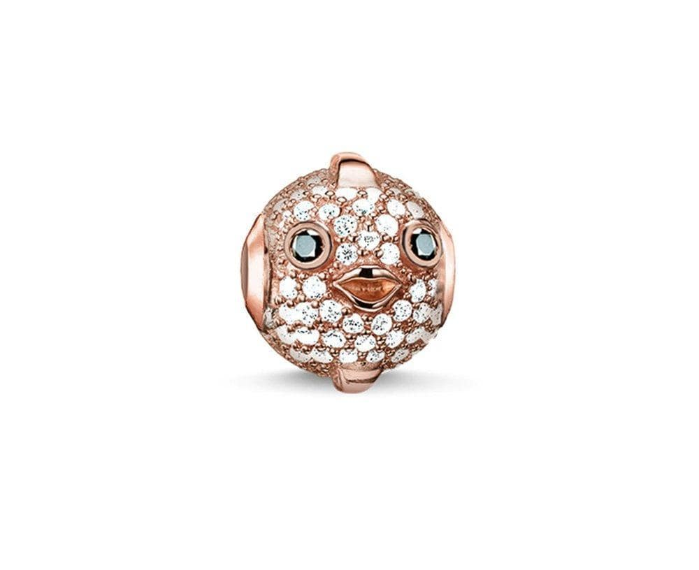 THOMAS SABO PUFFERFISH ROSEGP CZ KARMA BEAD - Brilliant Co