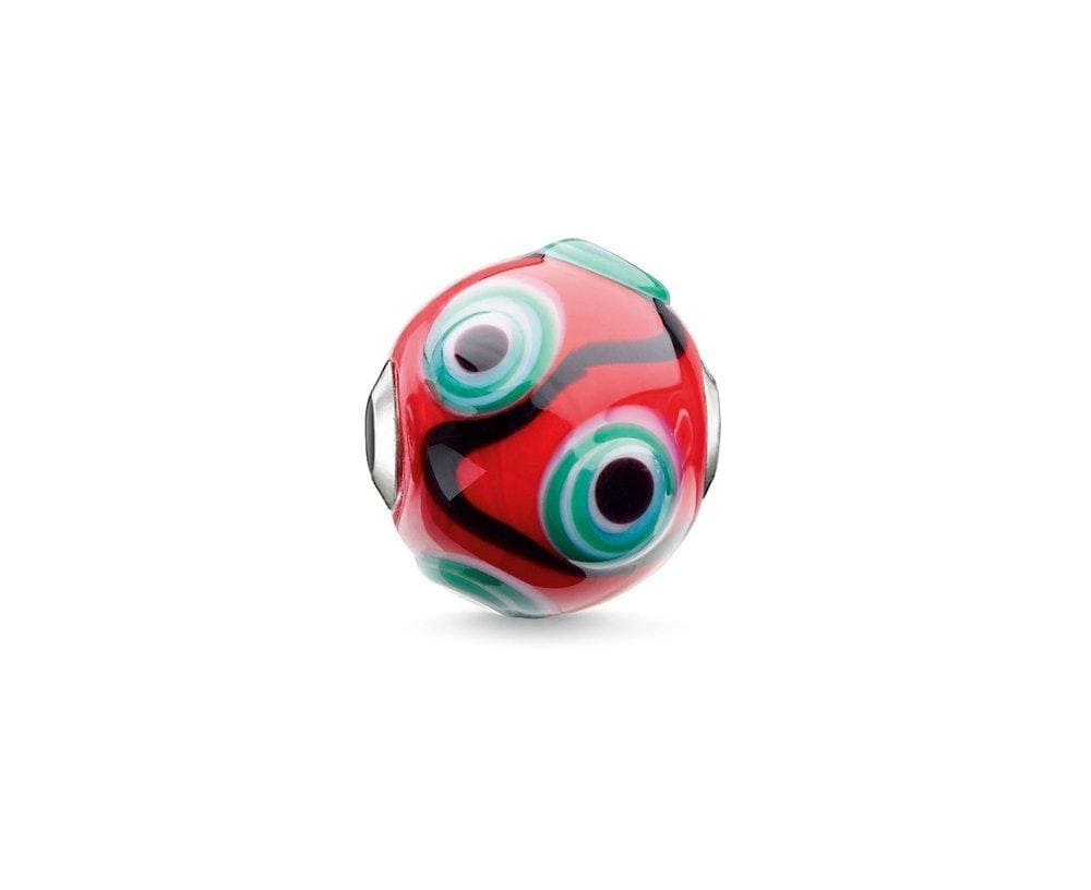 THOMAS SABO RED GREEN GLASS KARMA BEAD - Brilliant Co