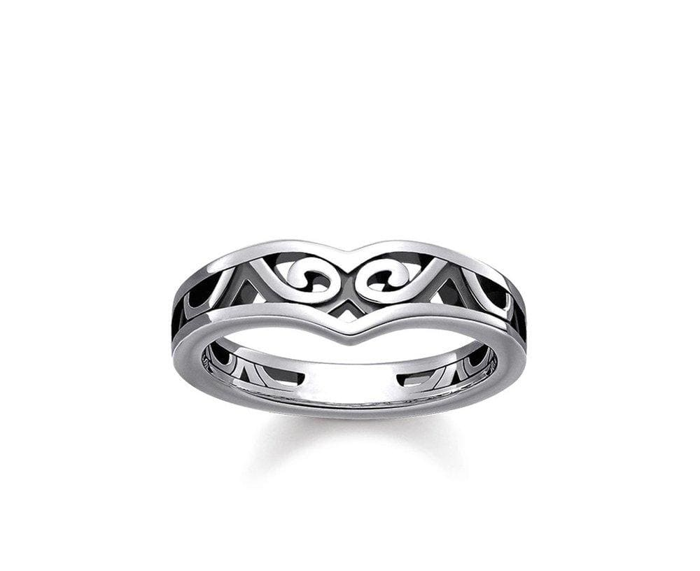 THOMAS SABO MAORI WHALE FIN RING - Brilliant Co