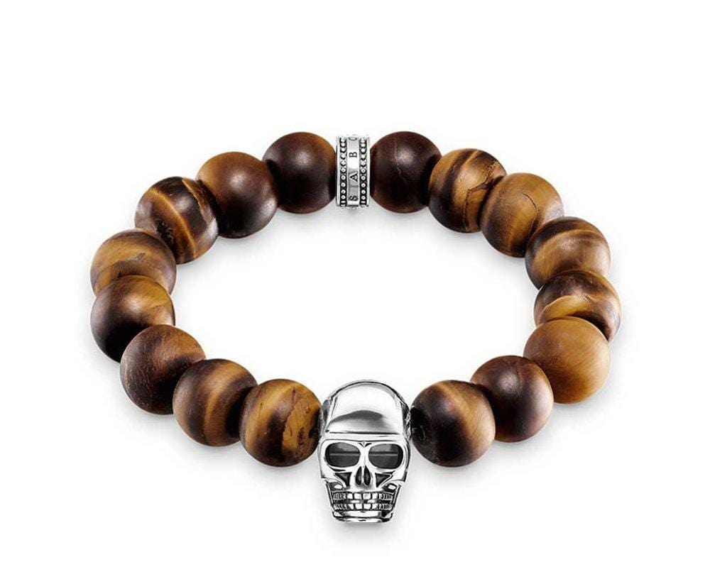 THOMAS SABO TIGERS EYE SKULL BRACELET 18cm - Brilliant Co