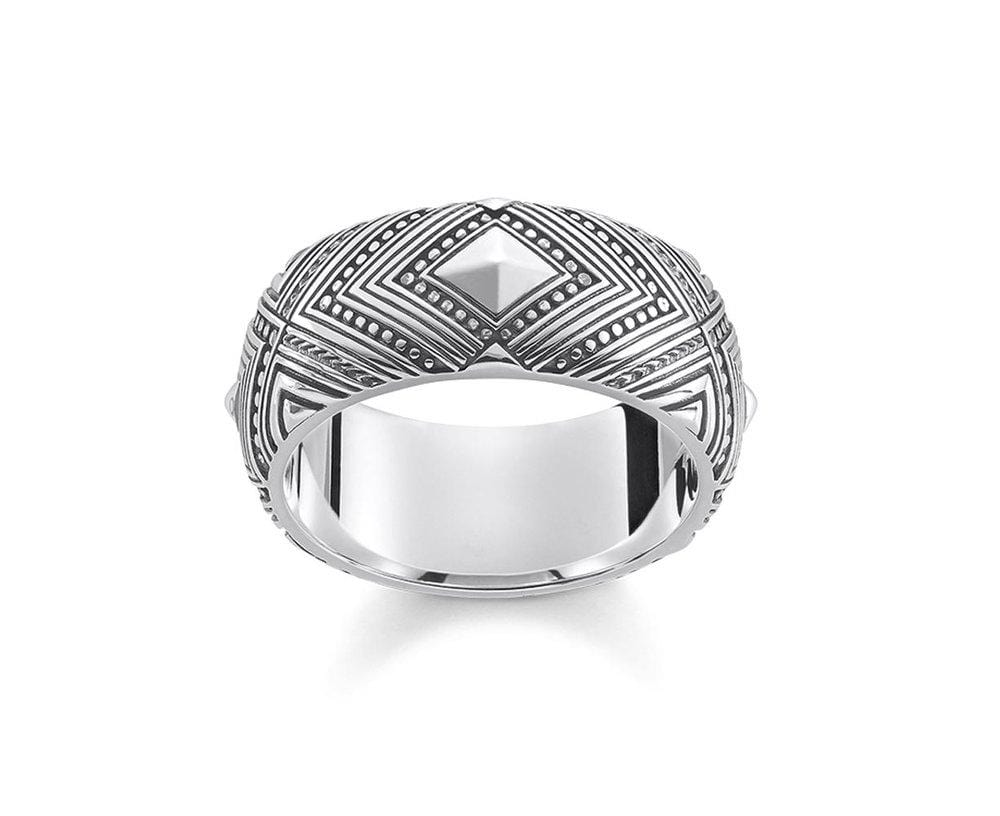THOMAS SABO AFRICAN WEAVE OXIDISED RING size 60 - Brilliant Co