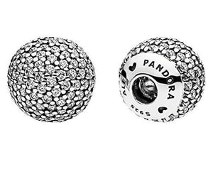 Pandora Pave End Caps - Silver/Clear - Brilliant Co