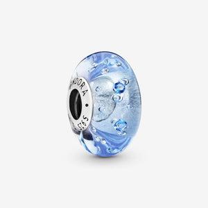Bubbly Blue Murano Glass Charm
