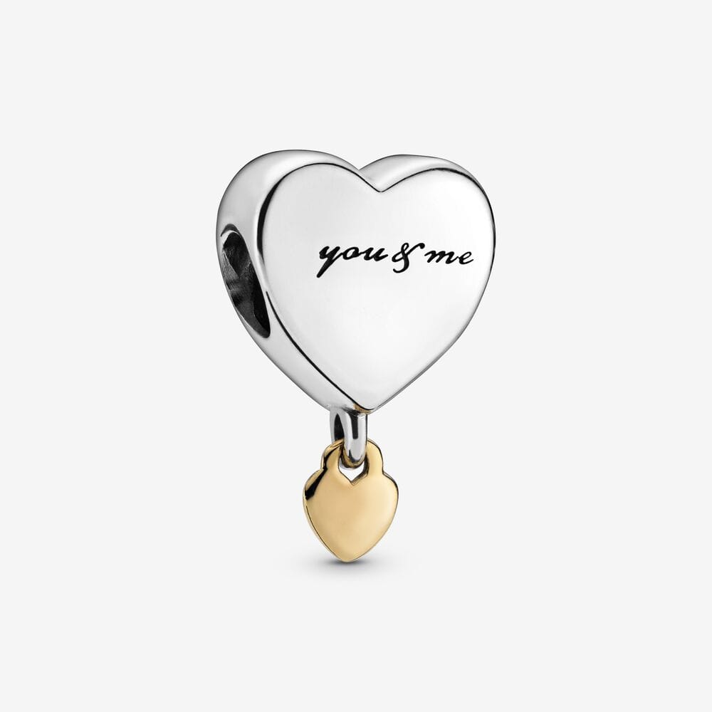 Hanging You & Me Heart Charm - Brilliant Co