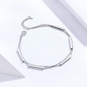 Solid 925 Sterling Silver Modern Minimalist Bracelet - Brilliant Co